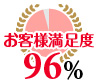 お客様満足度96%