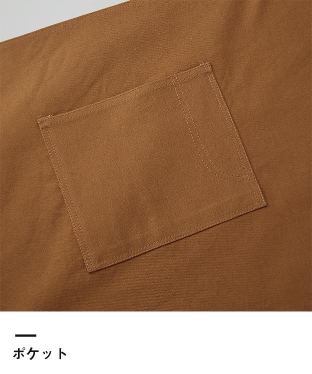 ウォッシュ キャンバス&ツイル ショート エプロン(1383-01)ポケット