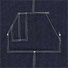 ウォッシュ キャンバス&ツイル エプロン(ループタイプ)(1385-01)襟元