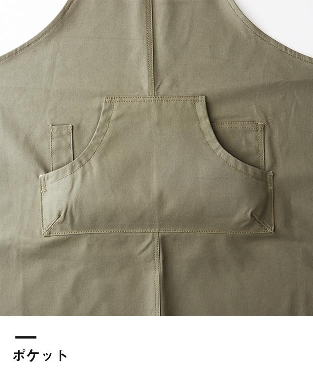 クラフトエプロンロング(CAL-032)ポケット