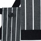 チェック柄胸当てエプロン(FK7121)調整可能ボタン・裾テープ