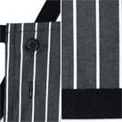 ストライプ柄胸当てエプロン(FK7122)調整可能ボタン・裾テープ