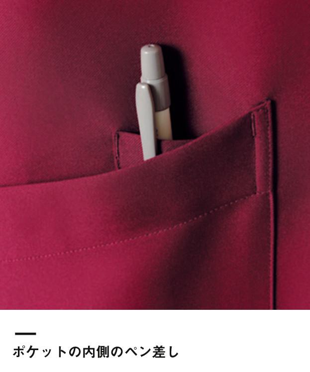 バッククロス胸当てエプロン(FK7127)ポケット内側のペン挿し