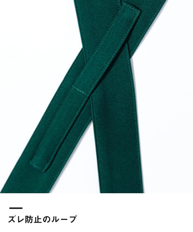 バッククロス胸当てエプロン(FK7127)ズレ防止のループ