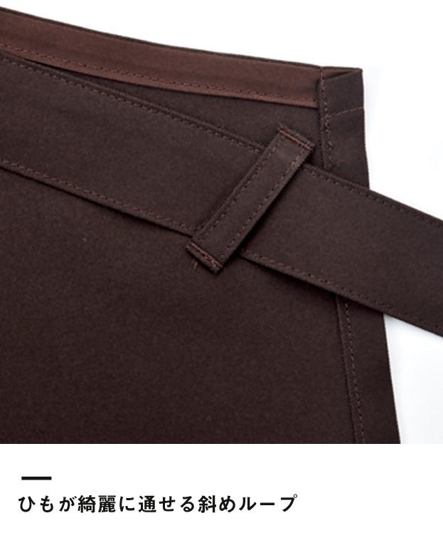 衿付き胸当てエプロン(FK7136)ひもがキレイに通せる斜めループ