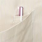 コードレーン胸当てエプロン(FK7141)ペン挿し用の小さなポケット付き
