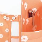 胸当てエプロン(デイジープリント)(FK7145)ボタン止めのストラップ・ポケット内側のペン挿し
