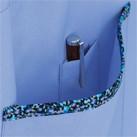 胸当てエプロン(花柄トリミングA)(FK7146)アウトポケット