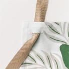 アロハ胸当てエプロン(リーフ柄)(FK7149)サイズ調整可能なストラップ