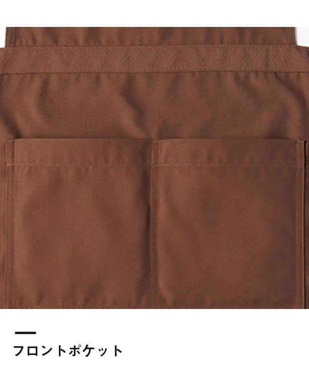 胸当てエプロン(FK7159)フロントポケット