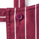 バッククロス胸当てエプロン(ストライプ)(FK7161)ボタンで簡単調整