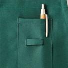 バッククロス胸当てエプロン(FK7163)ループ付き左胸ペンポケット