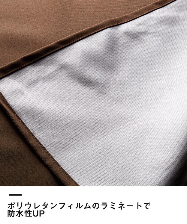 防水エプロン(TA-4005R)ポリウレタンフィルムのラミネートで防水性UP