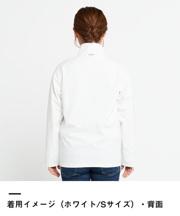 リフレクソフトシェルジャケット(00039-RJS)着用イメージ(ホワイト/Sサイズ)・背面