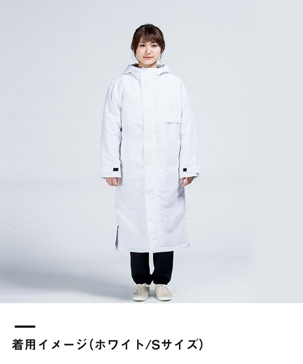 アクティブベンチコート(00230-ABC)着用イメージ(ホワイト/Sサイズ)