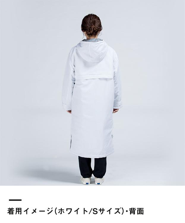 アクティブベンチコート(00230-ABC)着用イメージ(ホワイト/Sサイズ)・背面