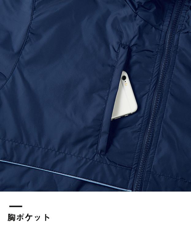 リフレクベーシックコート(00233-RBC)胸ポケット