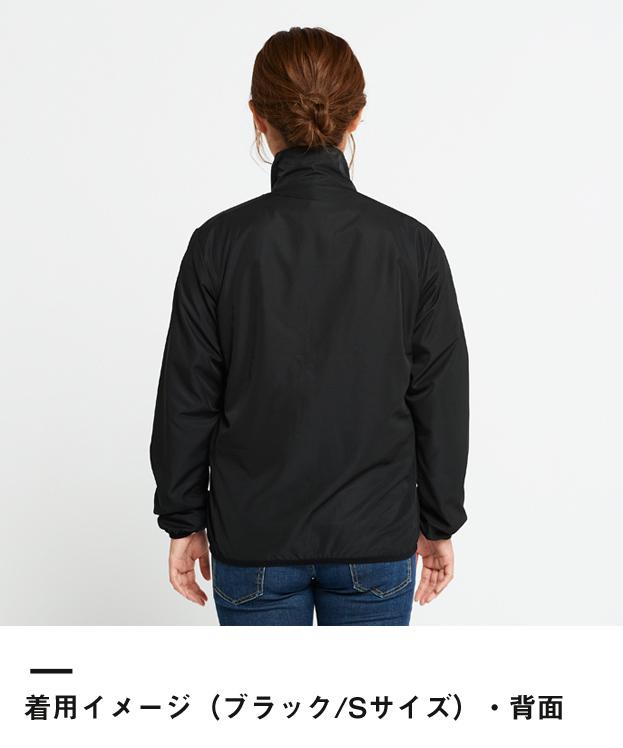ライトジャケット(00237-LJ)着用イメージ(ブラック/Sサイズ)・背面