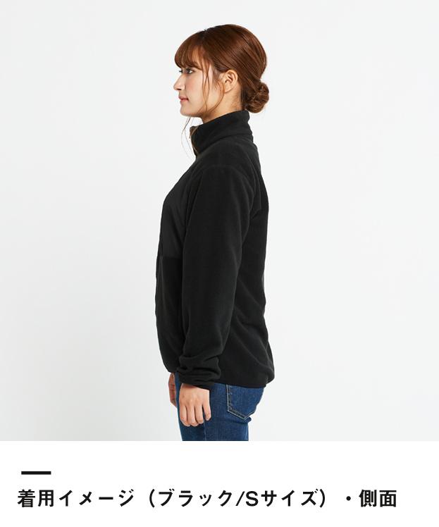 リフレクフリースジャケット(00238-RFJ)着用イメージ(ブラック/Sサイズ)・側面