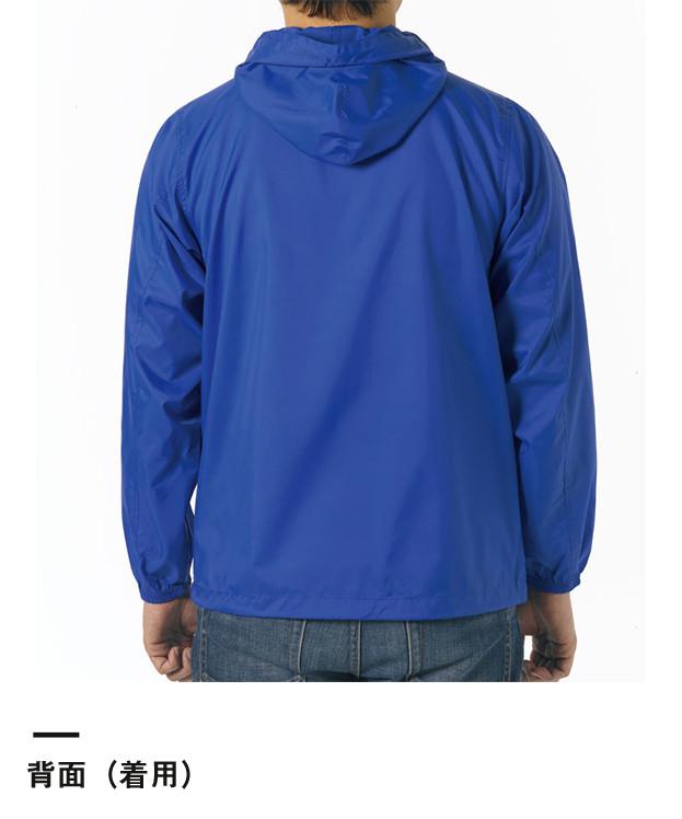 ナイロンフルジップジャケット(一重)(7025-01)背面(着用)