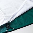 ナイロンスタンドジャケット(フードイン)(裏地付)(7056-01)裾ふらし