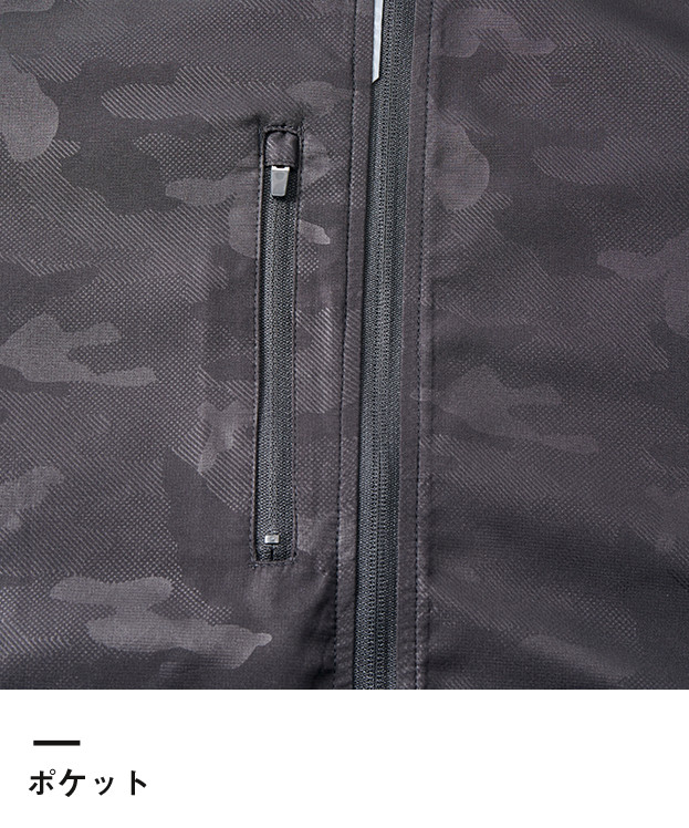 マイクロリップストップジップジャケット(裏地付)(7067-01)ポケット