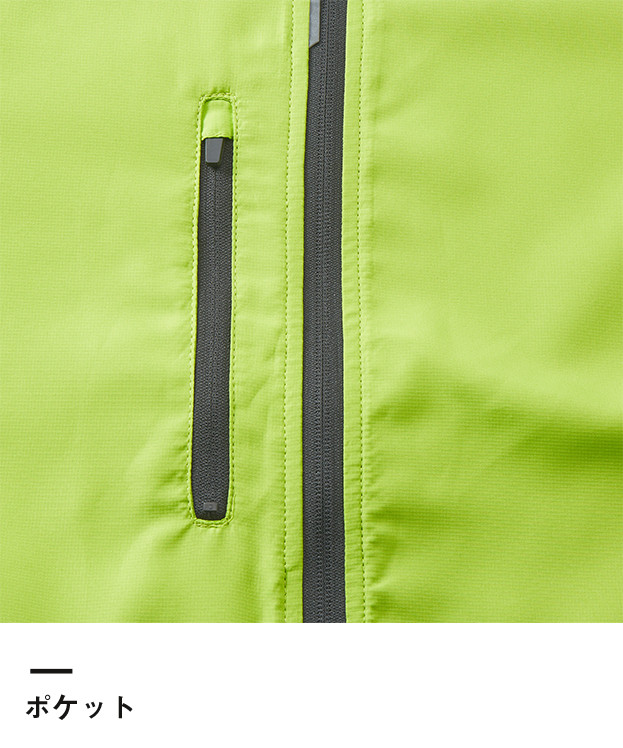 マイクロリップストップスタンドジャケット(裏地付)(7068-01)ポケット