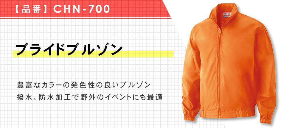 ブライトブルゾン(CHN-700)15カラー・5サイズ