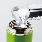 セルトナ・ストッパー付き真空ステンレスボトル(157341-5)氷も入る口径