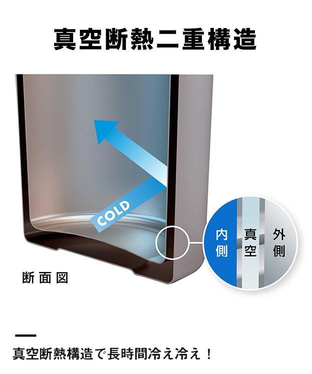 アトラス ボトルインボトル約500~650ml用(ストラップタイプ)(ABIB-B)真空断熱構造で冷え冷え!