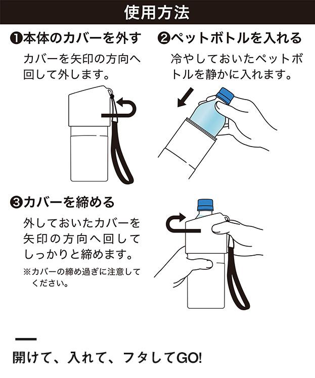 アトラス ボトルインボトル約500~650ml用(ストラップタイプ)(ABIB-B)開けて、入れて、フタしてGO!