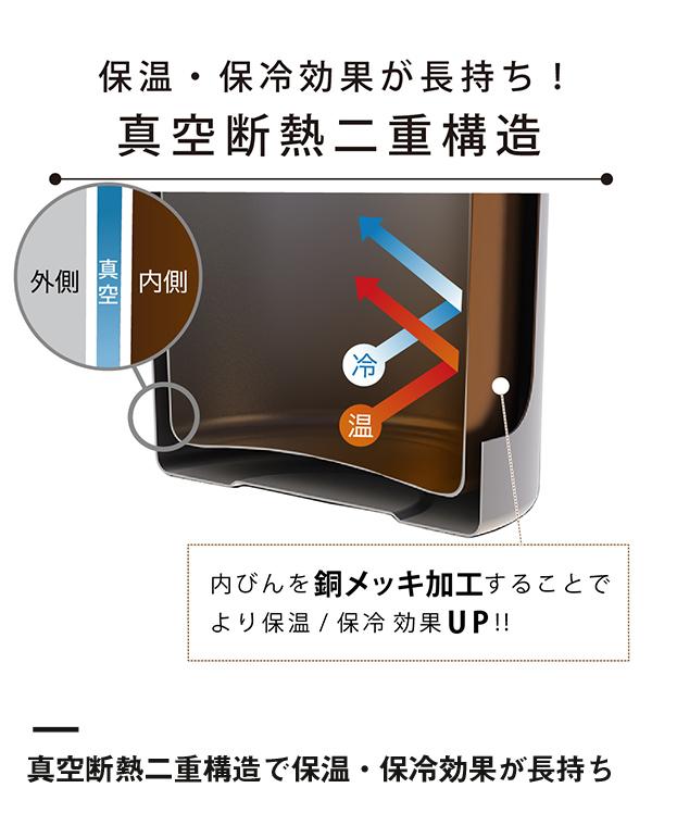 アトラス CURRENT コーヒーボトル 350ml(ACW-352)真空断熱二重構造で保温・保冷効果が長持ち
