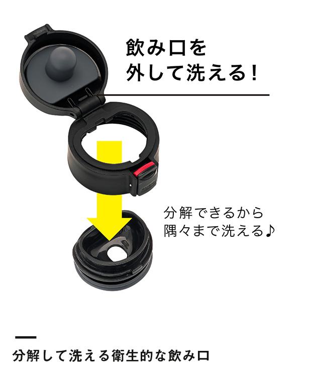 アトラス 軽量ワンタッチボトル680ml(AFW-680)分解して洗える衛生的な飲み口