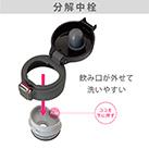 アトラス Airlist 超軽量ワンタッチボトル 495ml(AREW-500)飲み口が外せて洗いやすい