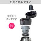 アトラス Airlist 超軽量ワンタッチボトル 495ml(AREW-500)シンプルなパーツで細部まで洗いやすい