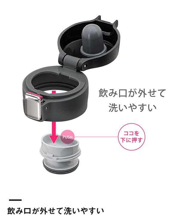 アトラス Airlist 超軽量ワンタッチボトル620ml (AREW-600)飲み口が外せて洗いやすい