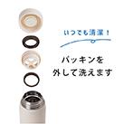 アトラス Airlist超軽量スクリューマグボトル350ml(ARS-350)パッキンを外して洗えるのでいつでも清潔