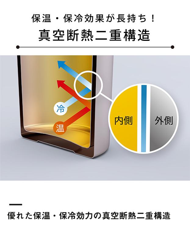 アトラス 軽量ワンタッチボトル800ml(AWN-800)優れた保温・保冷効力の真空断熱二重構造
