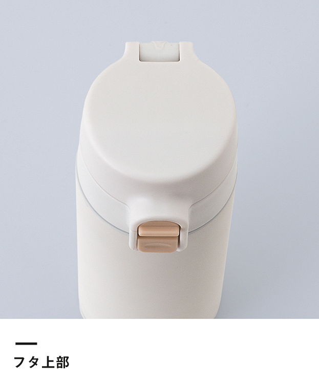 アトラス ステンレスワンタッチ軽量スリムマグボトル300ml(AWS-300)フタ上部