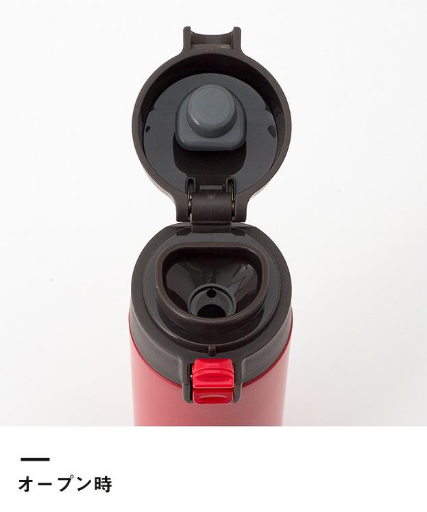 アトラス ステンレスワンタッチ軽量スリムマグボトル350ml(AWS-350)オープン時