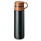 木目調カップサーモボトル 500ml(TS-1369)正面