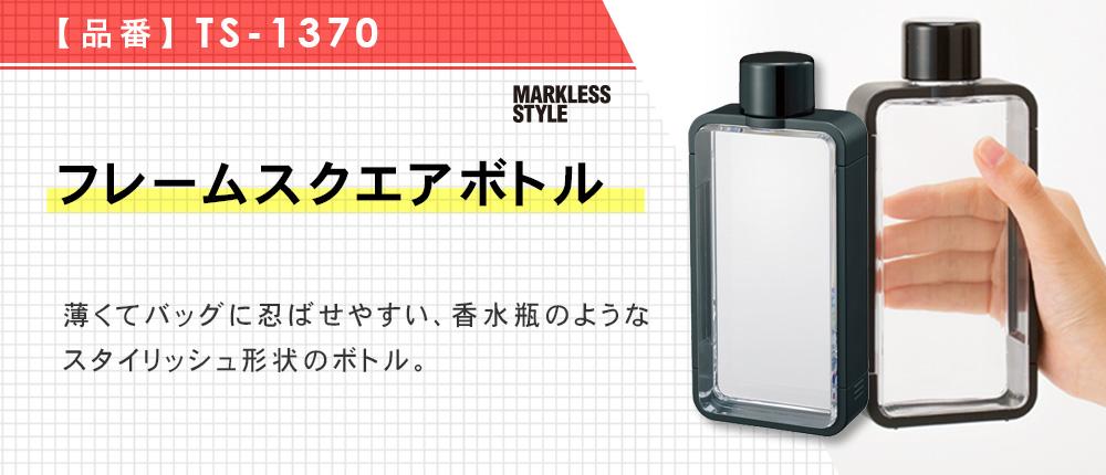 フレームスクエアボトル(TS-1370)2カラー・容量(ml)380