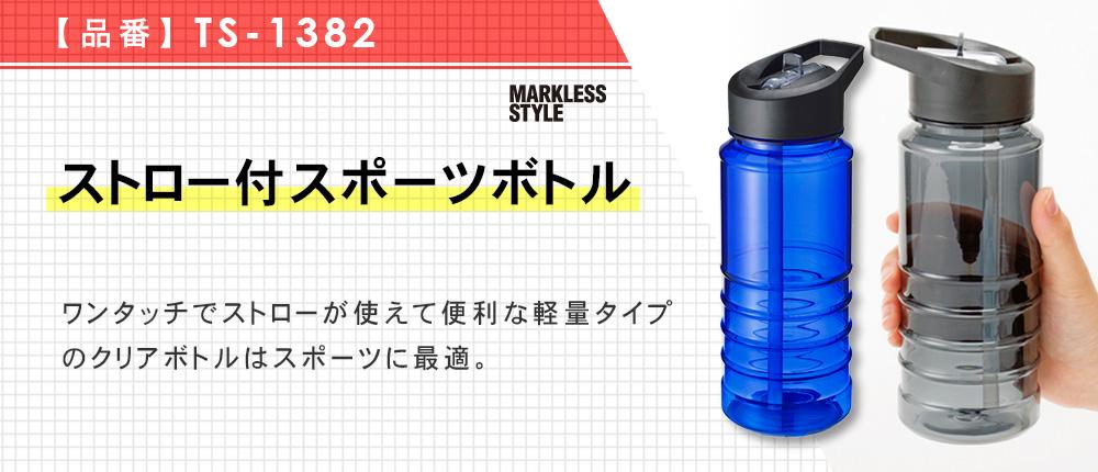 ストロー付スポーツボトル(TS-1382)3カラー・容量(ml)540