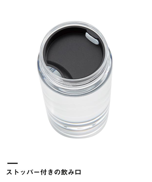 クリアタンクボトル 500ml(TS-1405)ストッパー付きの飲み口