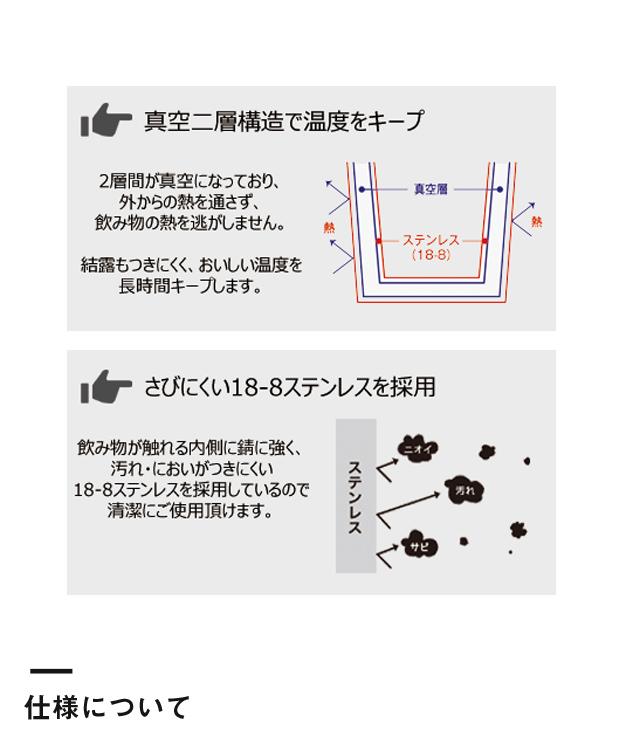 コーンサーモステンレスボトル(TS-1442)仕様について
