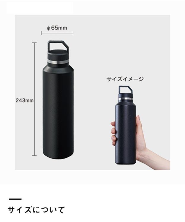 Zalattoサーモハンドルスリムボトル(TS-1508)サイズについて