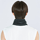 ネックゲイター(00354-ANG)着用イメージ(ブラック)・背面