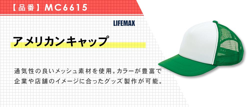 アメリカンキャップ(MC6615)22カラー・2サイズ