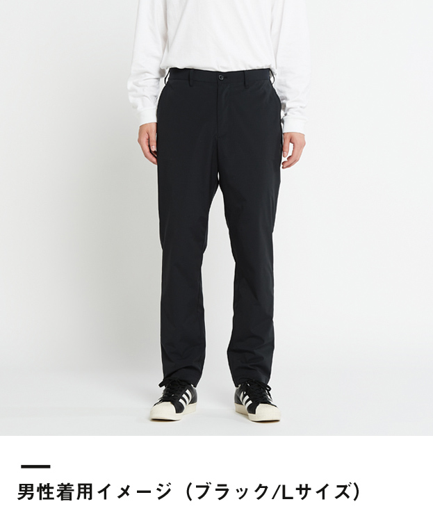 ドライストレッチパンツ(00370-SAC)男性着用イメージ(ブラック/Lサイズ)