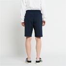 ドライストレッチハーフパンツ(00372-SAH)男性着用イメージ(ネイビー/Lサイズ)・背面